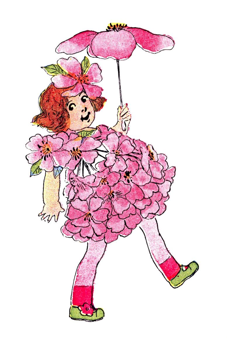 Spring flowers clipart clipart kid - Free Vintage Clip Art Flower Fairies For Spring
