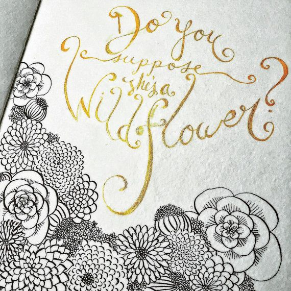 Alice in Wonderland Quote Series: Do You Suppose by MushroomNest ...