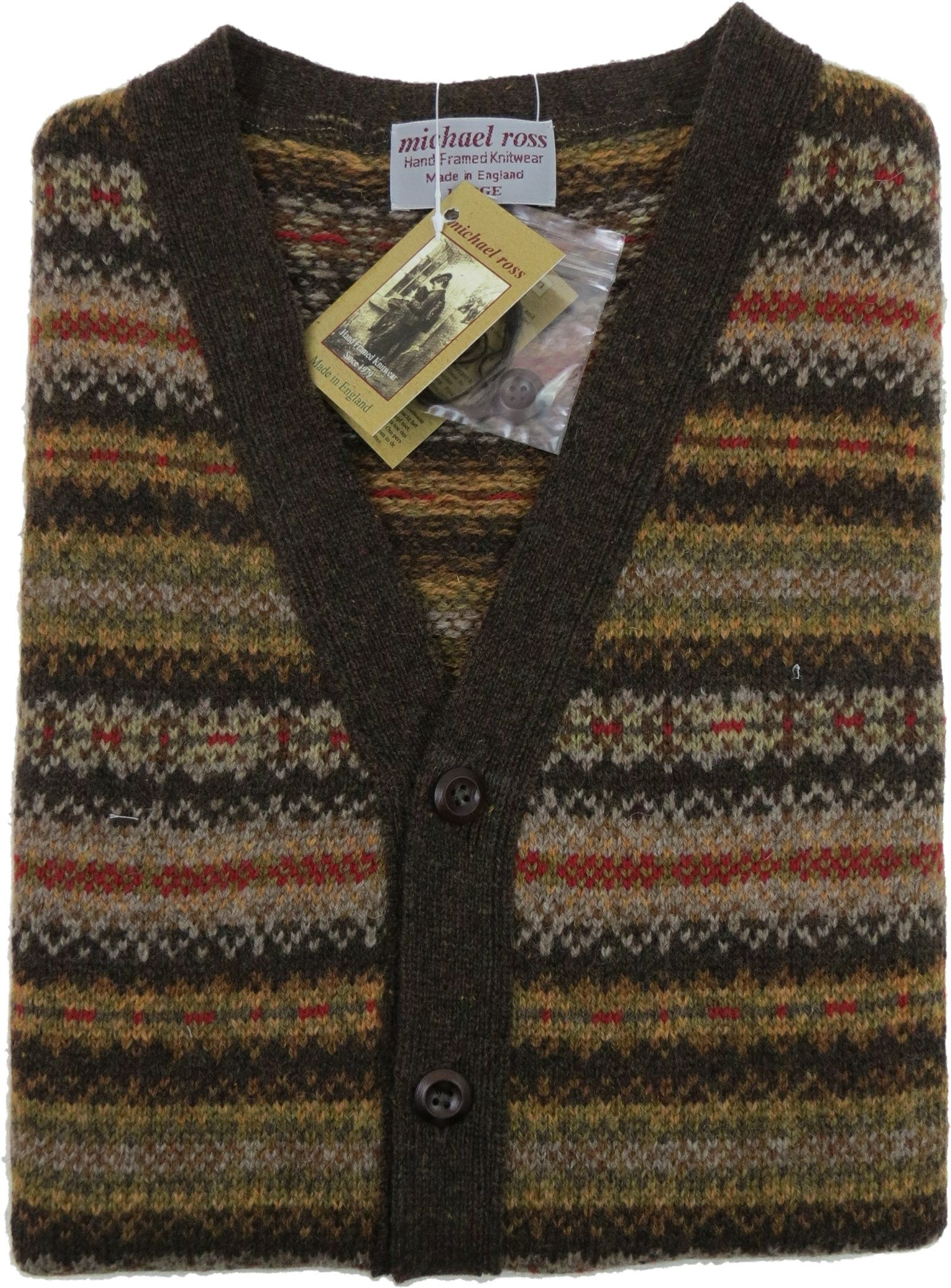 Fair Isle waistcoat 0012-2746-F17 Oatmeal CREST