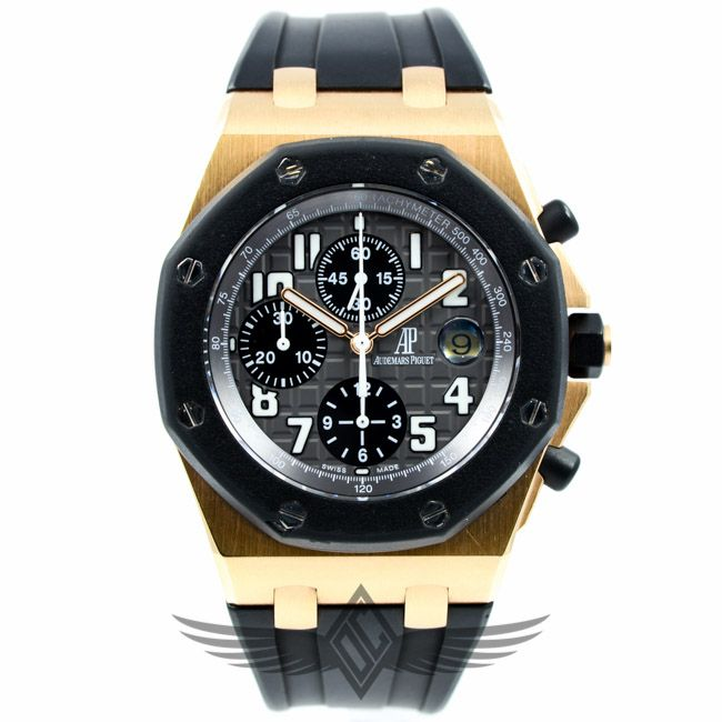 #AudemarsPiguet Royal Oak Offshore Rubberclad Rose Gold 25940OK from #OCWatchCompany in #Walnut Creek