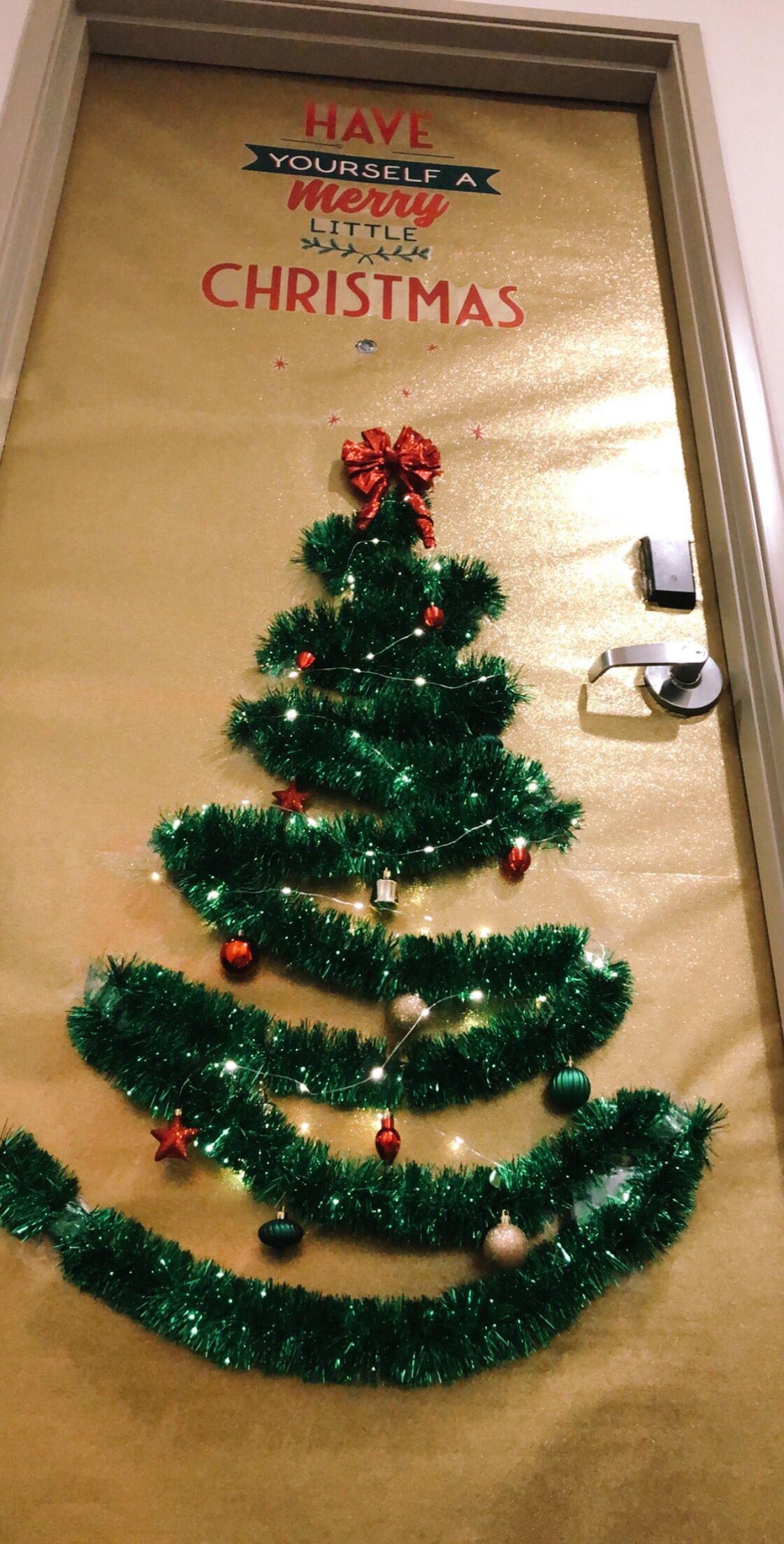 Christmas Dorm Door Decor