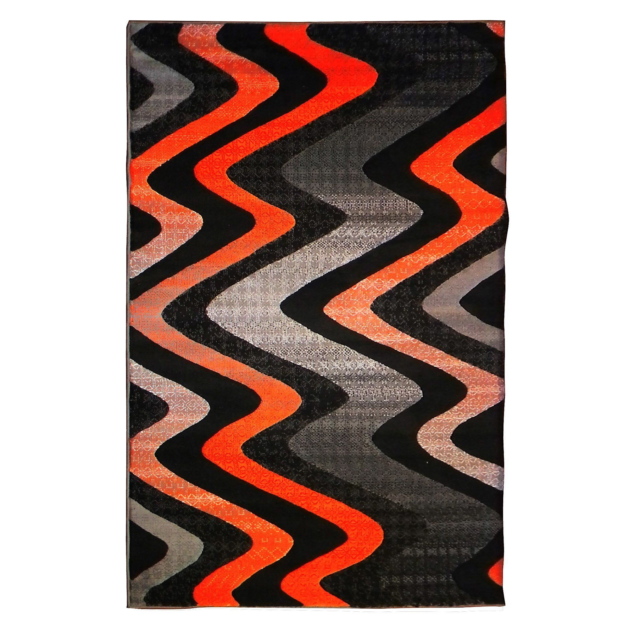 Trendz Black Orange Area Rug Teenagers Room Orange Rugs