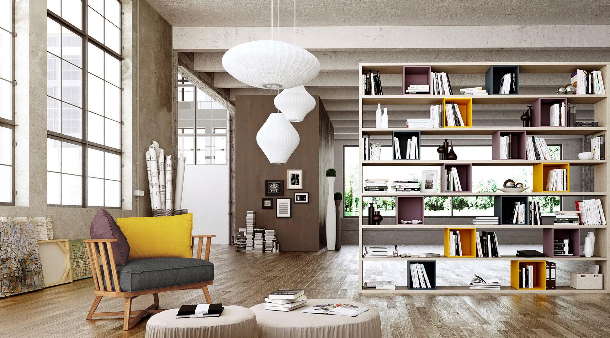 Libreria Divisoria Salvaspazio | LIBRARI | Pinterest | Modern living ...