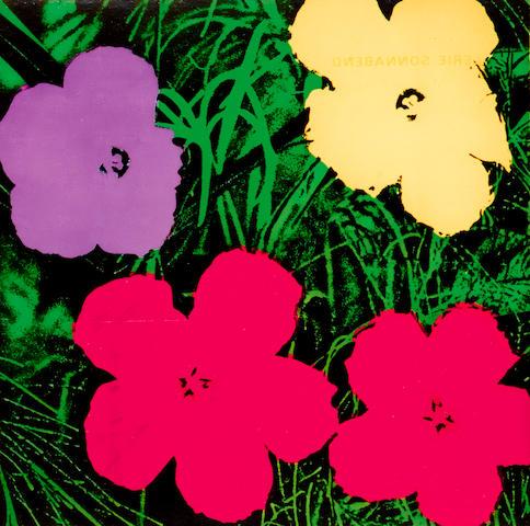 Andy Warhol (1928-1987); Flowers (Sonnabend Invitation);