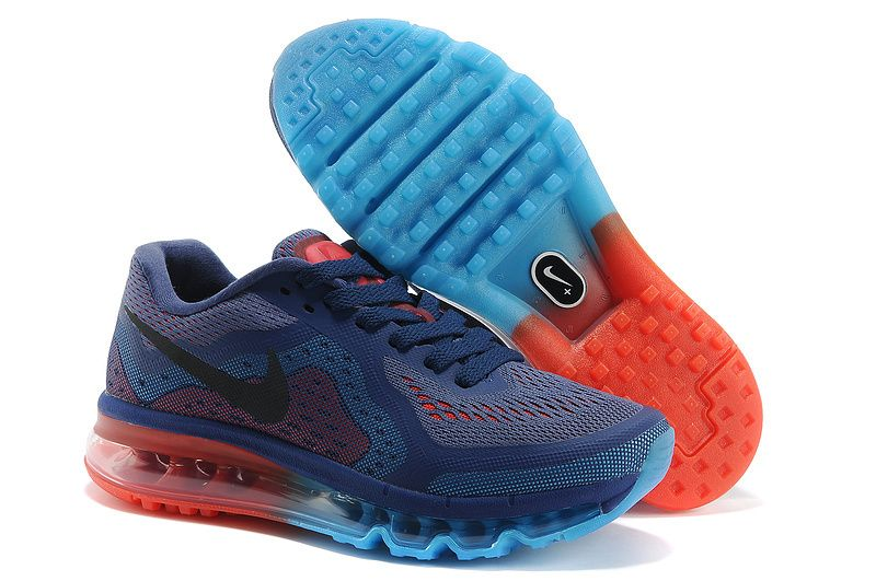 Womens Purple Blue Red Nike Air Max 2014 Running Shoes | the