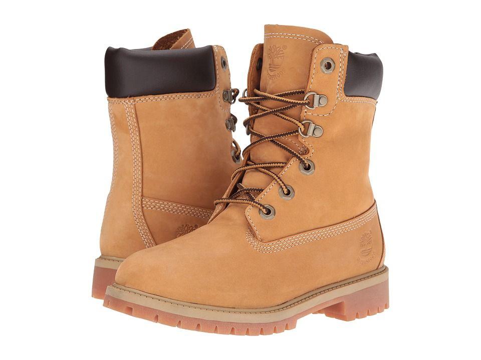 b052d0342970 Timberland Kids 8 Waterproof Premium Boot (Little Kid Big Kid) Boys Shoes  Wheat Nubuck