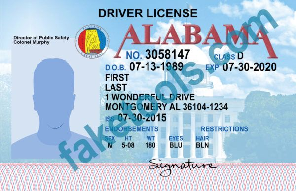 Passport Alabama Psd Driver Templates 2019 In Template License