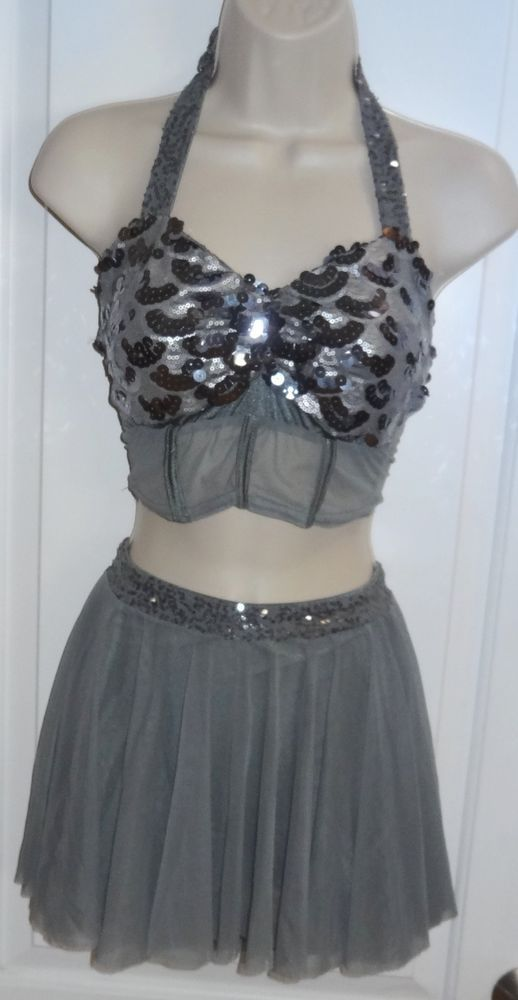 Silver Sequin Adult Dance Costume
