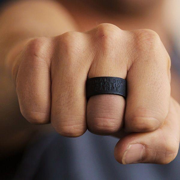 10 Unique Men S Wedding Bands Mywedding Mens Black Ring Rings For Men Black Rings