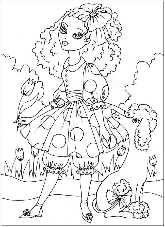 герои сказок в детских раскрасках, Мальвина, скачать и ...