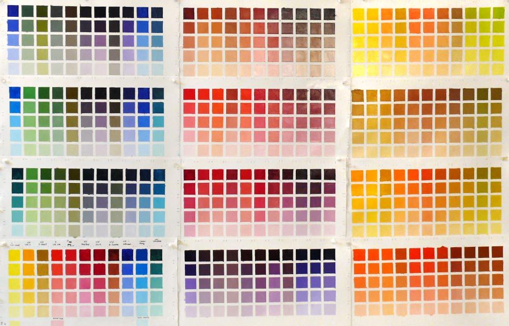 Pinterest Color Mixing Chart