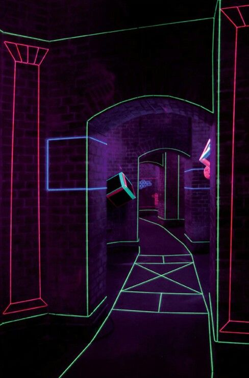 colored thread and uv lights form captivating augmented spaces - Captivating Light Installation Artists