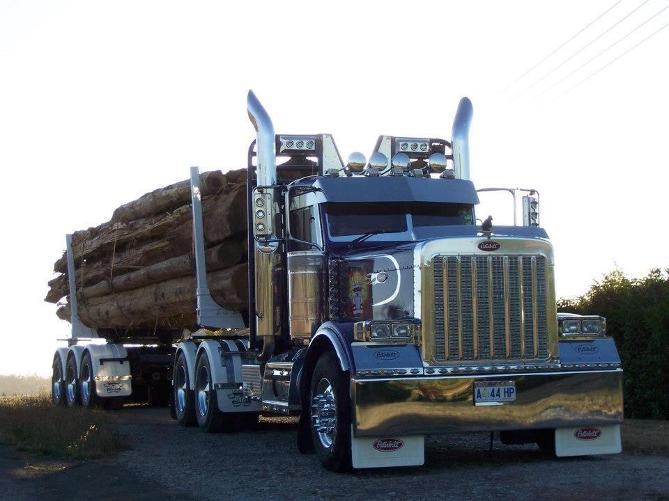 Peterbilt 389 Logging Big Trucks Dump Trucks Big Rig Trucks