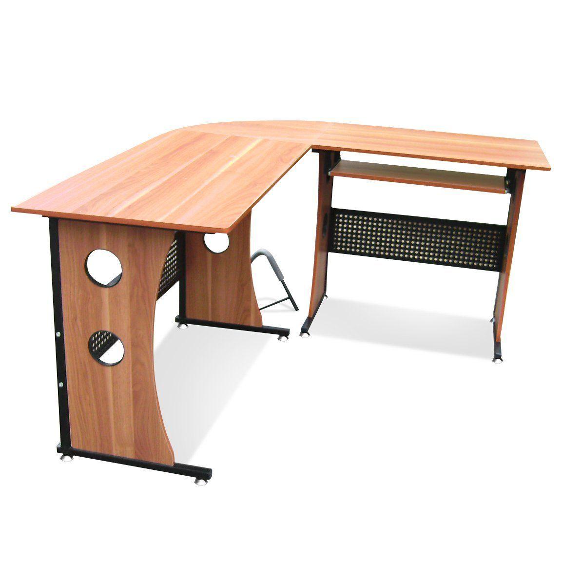 large l shaped office desk. Popamazing Large Corner Computer Desk PC Table L-Shape Home Office (Light L Shaped