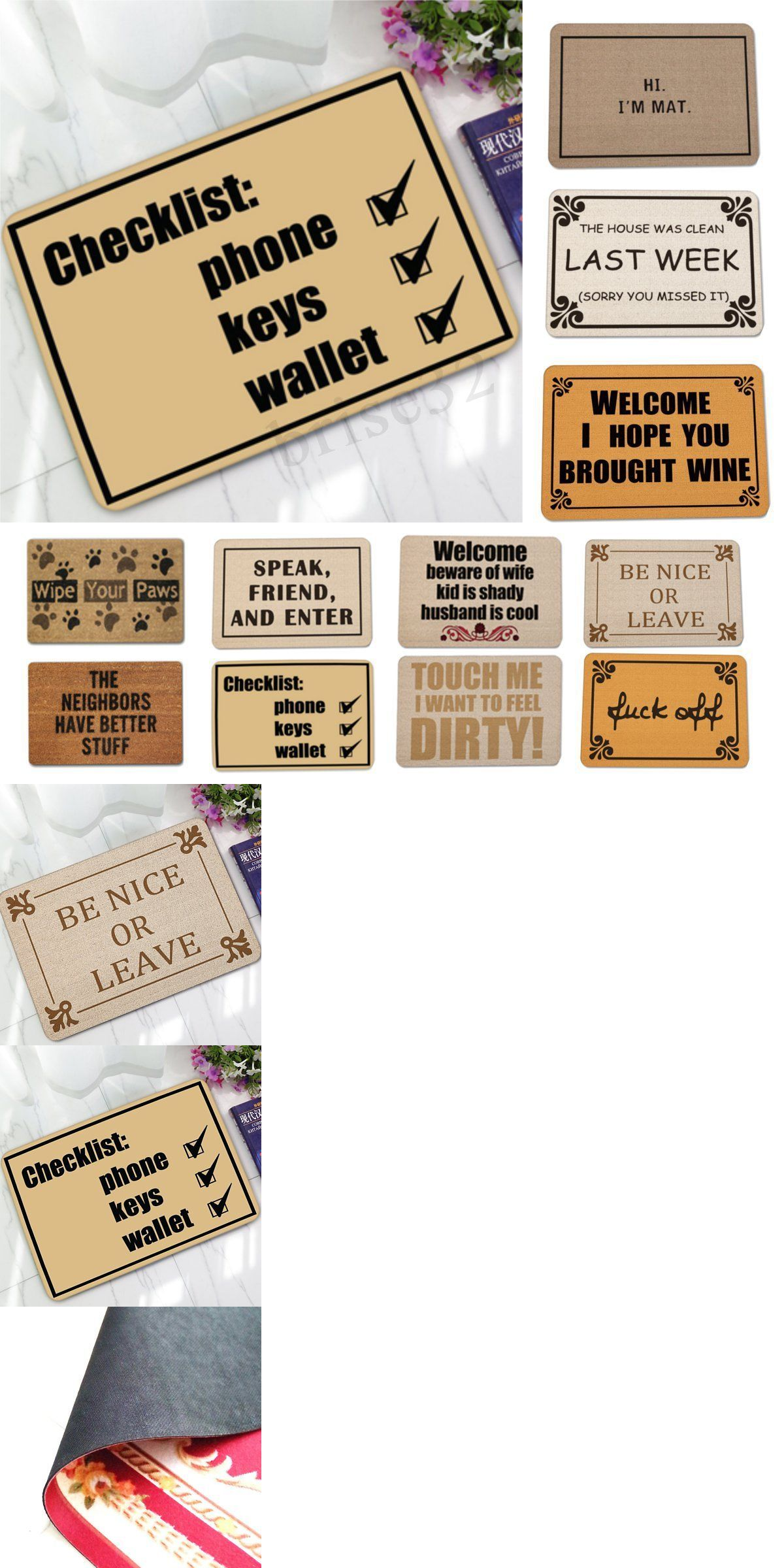 Door Mats And Floor Mats 20573 Letter Funny Welcome Home Entrance