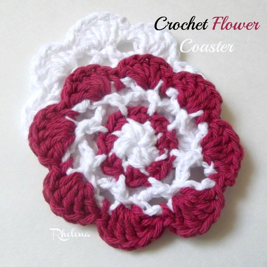 Crochet Flower Coaster ~ FREE Crochet Pattern ☂ᙓᖇᗴᔕᗩ ᖇᙓᔕ☂ᙓᘐᘎᓮ http://www.pinterest.com/teretegui
