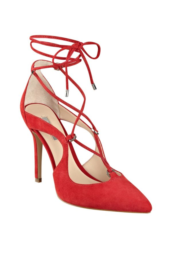For the Icon: Badelia Lace-Up Pumps | GUESS.com #GUESSHoliday. Black White  RedShoe ...