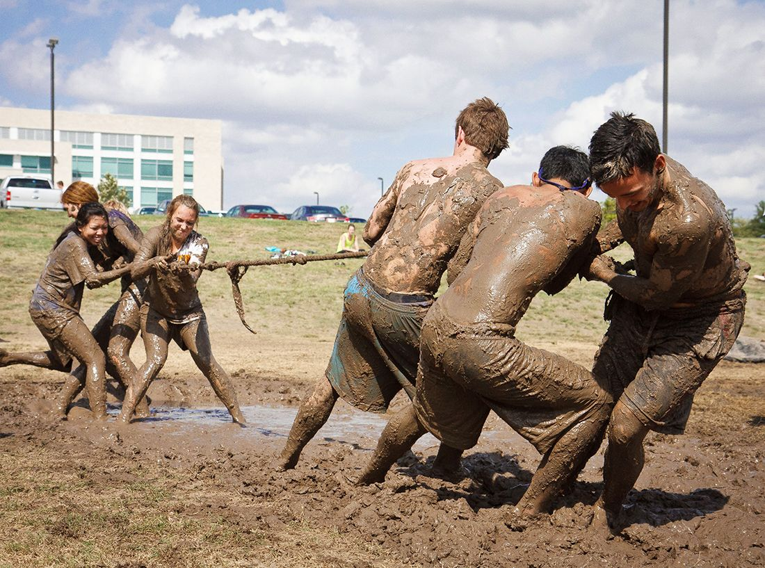 tug-of-war with mud: A fun activity for teens and college students ...