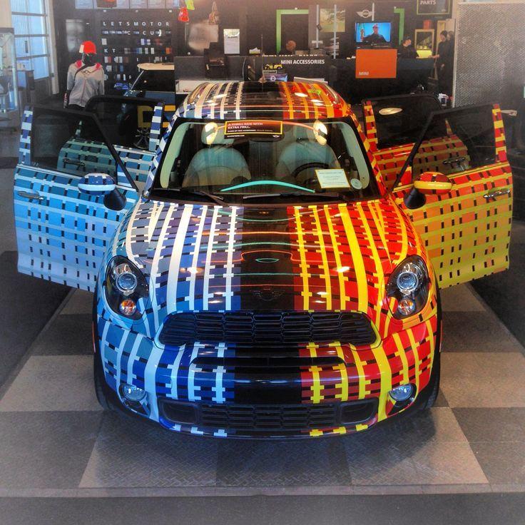 MINI Art Cars | blue | orange | design | custom | MINI | Mini Cooper | Dream Car | Miniac | Art | custom MINI cooper | custom car | Schomp MIN