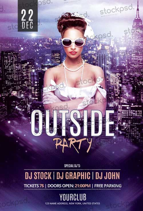 Outside Party Free Flyer Psd Template Httpfreepsdflyer