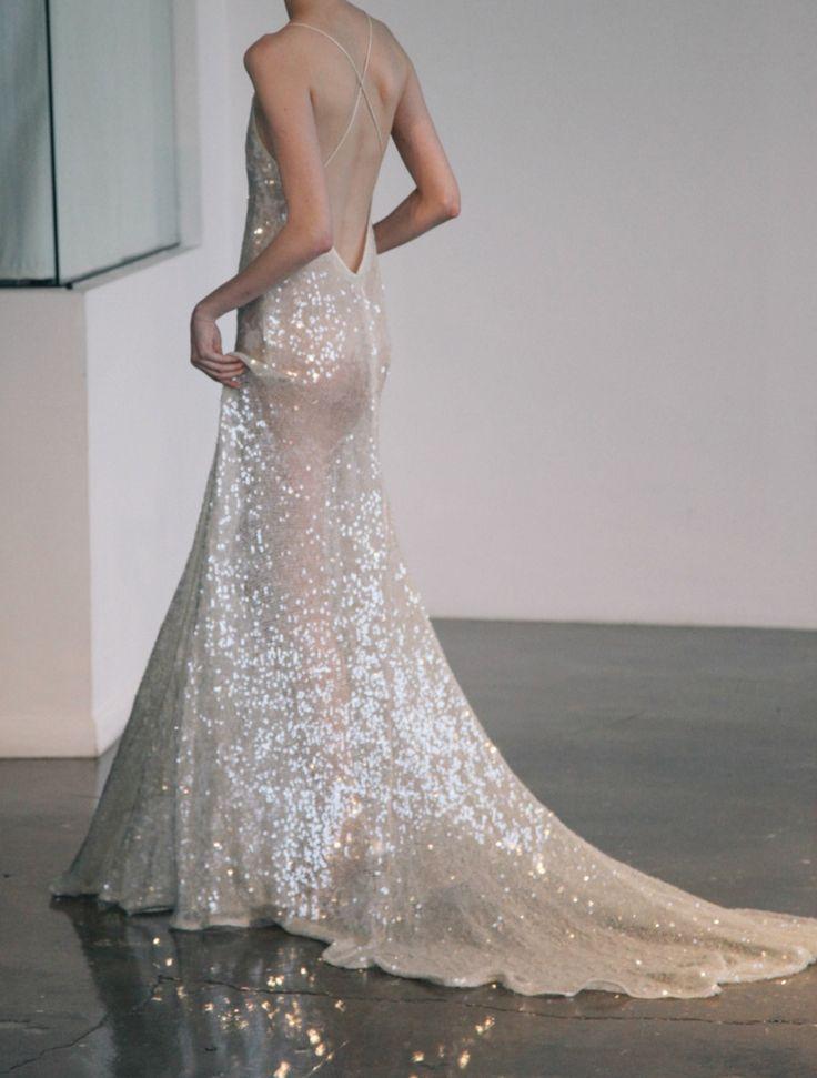 sparkling backless wedding gown   Embellished Wedding Dresses ...