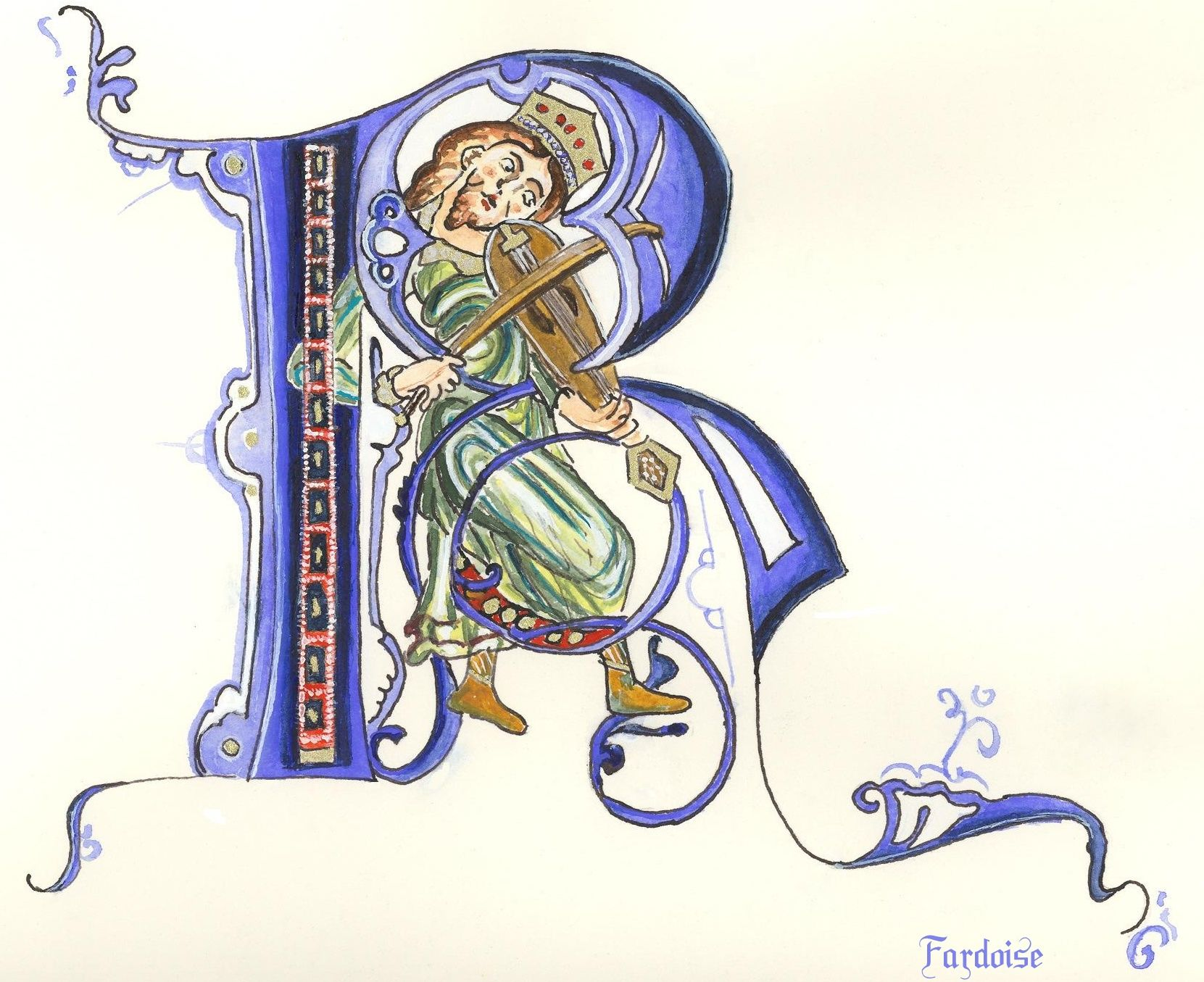 Enluminure lettrine p calligraphie pinterest - Dessiner l alphabet ...