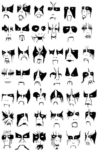 Which Corpsepaint is best for your facial structure - A guide.