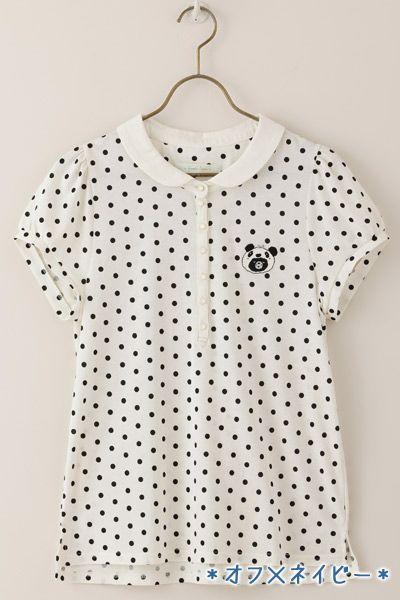 oh my! :)  #franche lippee #Japanese #fashion #shirt #panda #polka dots