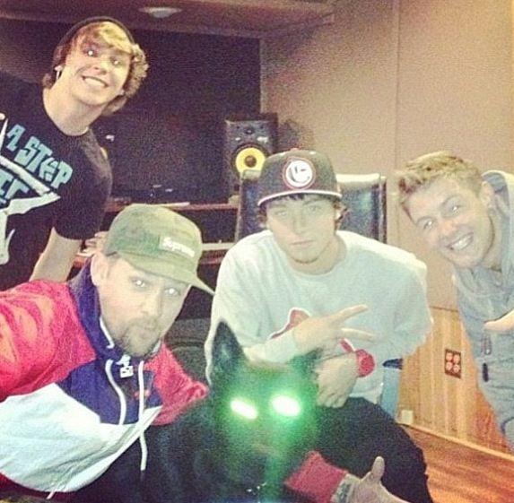 Emblem3 at the recording studio