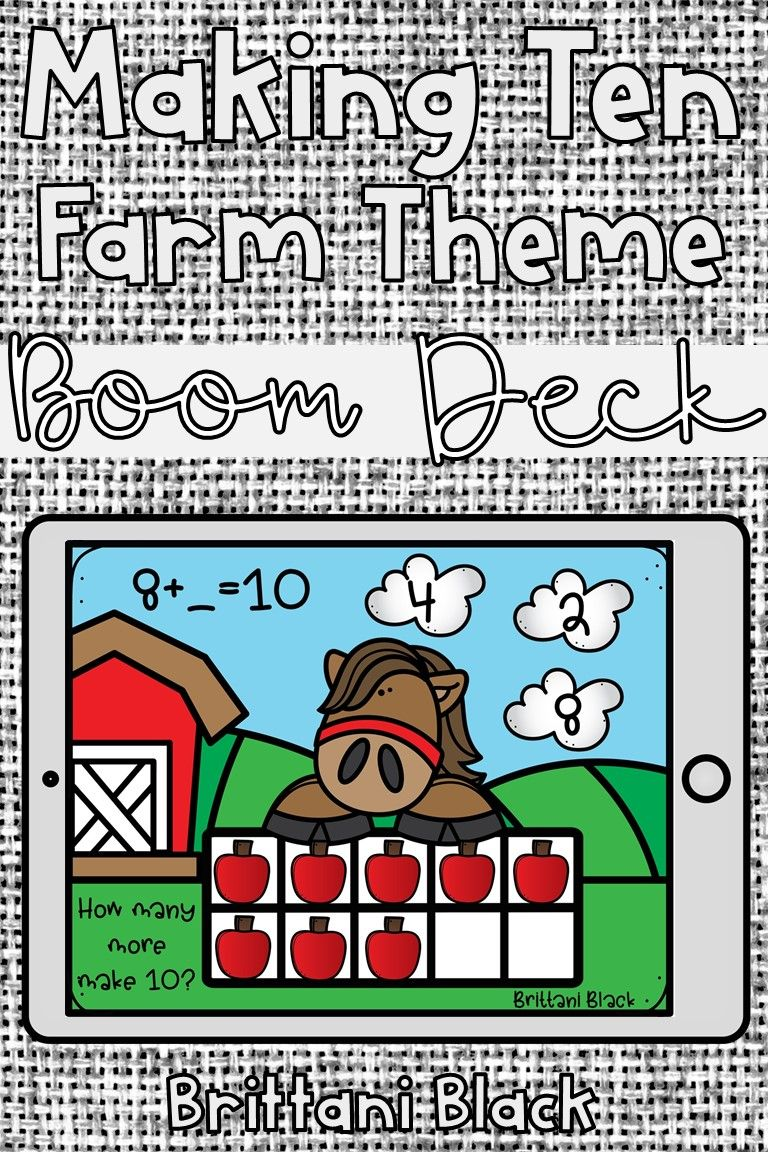 Kindergarten boom cards making ten distance learning