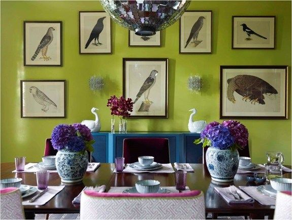 Decorating With Analogous Color Centsational Style Green Dining Room Funky Home Decor Room Wall Decor