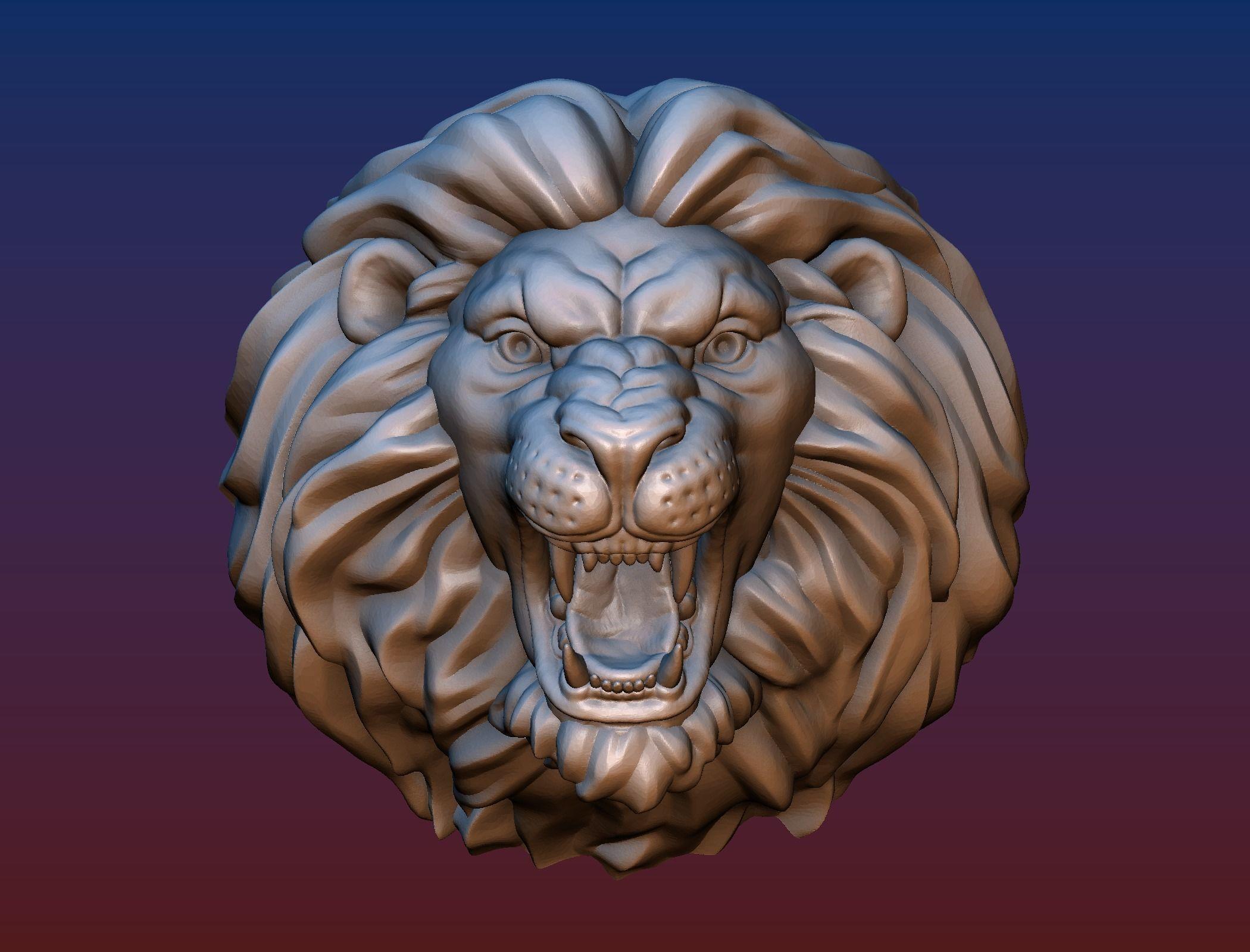 Lion head short mane 3D Print Model (With images) Lion