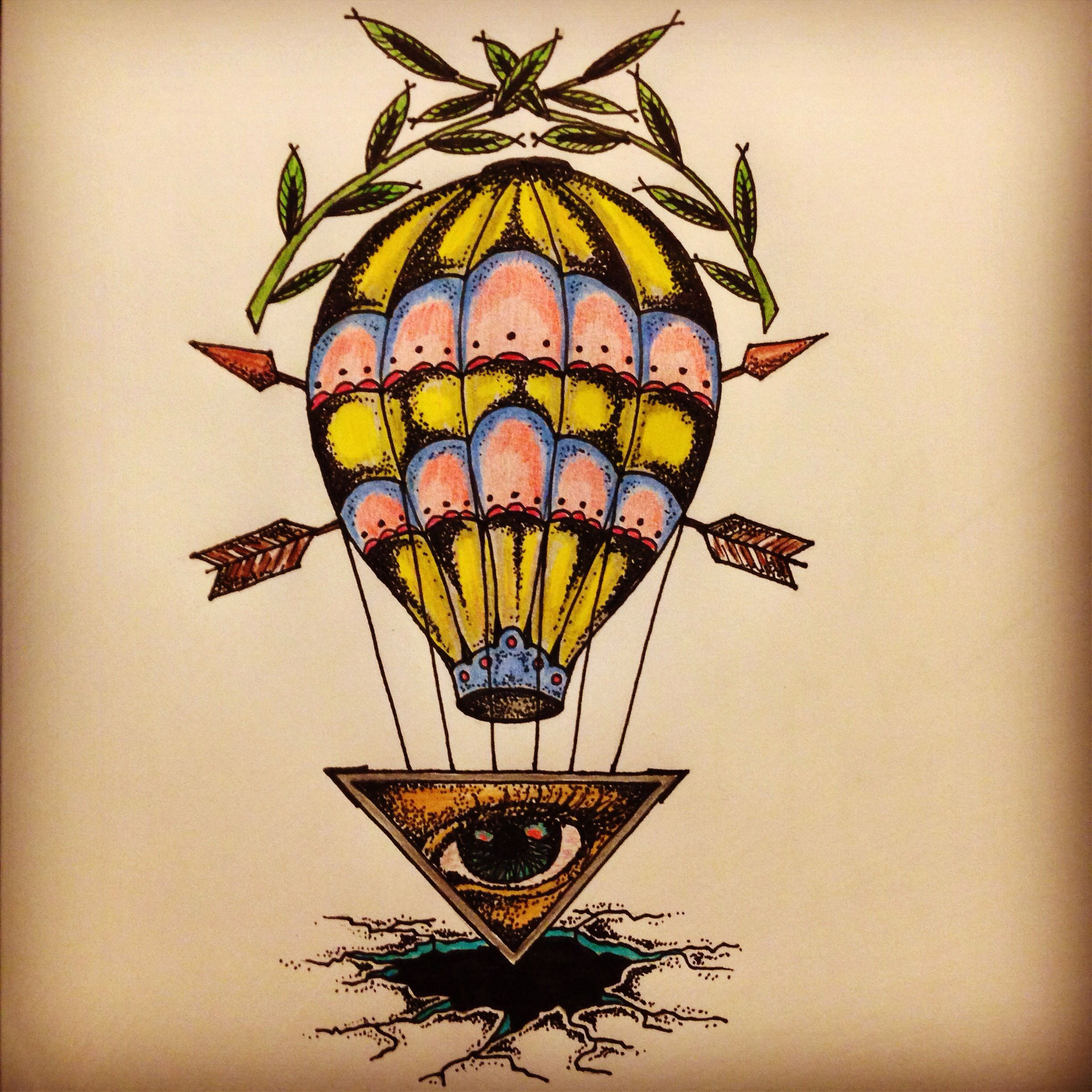 New traditional balloon / all seeing eye tattoo sketch by - Ranz