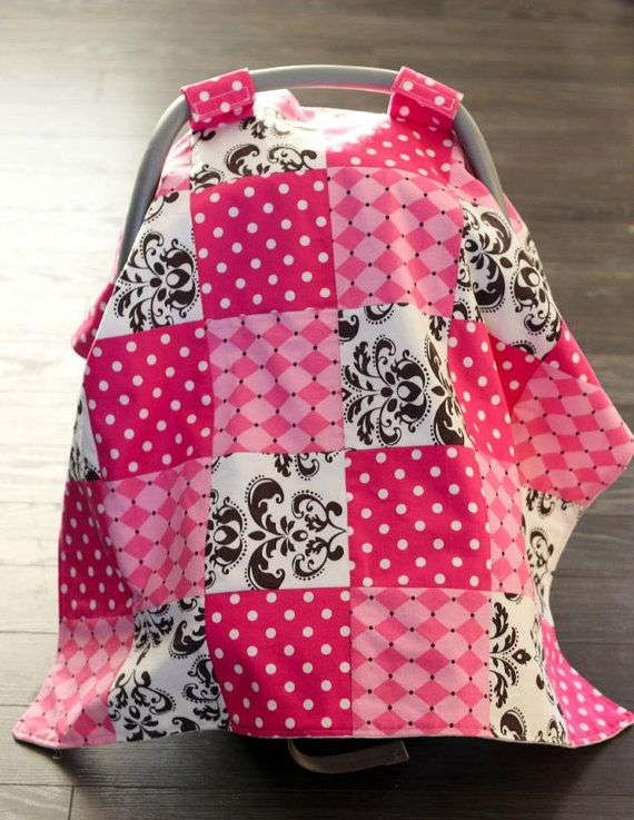 Baby Carseat Canopy Carseat Cover Quilted Patchwork
