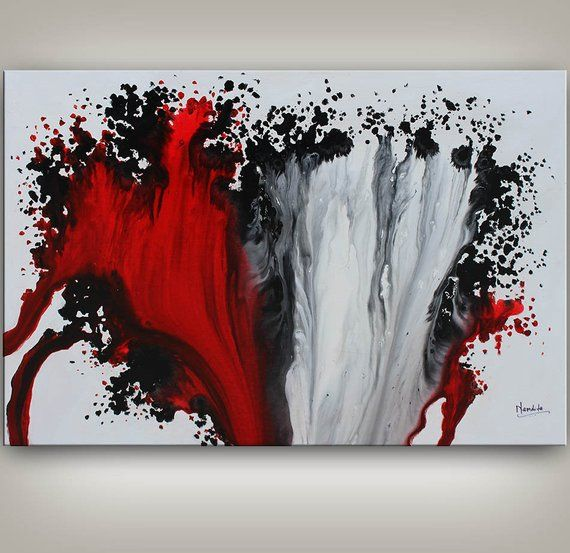 Original Painting Art Painting Acrylic Painting Abstract Painting Red And Black Wall Hanging Small Wall Art Modern Wall Decor Painting Art Painting Crafts