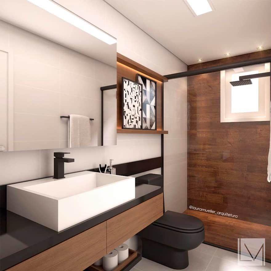 Interior Design Inspiration Photos By Laura Hay Decor Design: Banheiro Moderno By Laura Mueller Arquitetura + Interiores