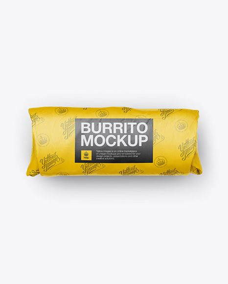 Download Burrito Wrapper Mockup Top View In Packaging Mockups On Yellow Images Object Mockups Mockup Free Psd Mockup Psd Mockup