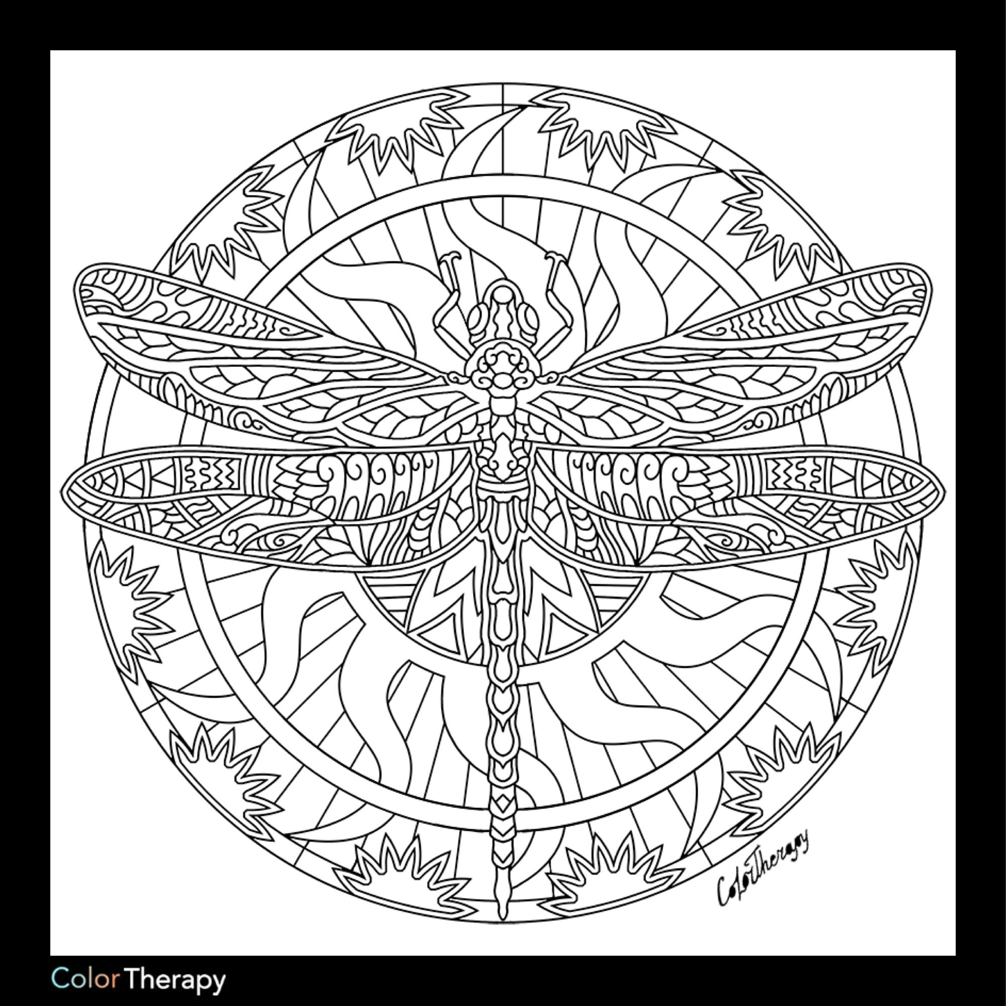 I Colored This Myself Using Color Therapy App It Was So Fun And Relaxing And It S Free Coloring Pages Animal Coloring Pages Mandala Coloring Pages