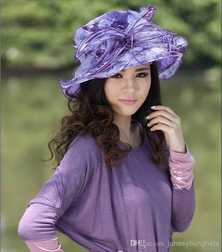 Women Winter Dress Hat For Church Chapeau Hat Millinery Women ...