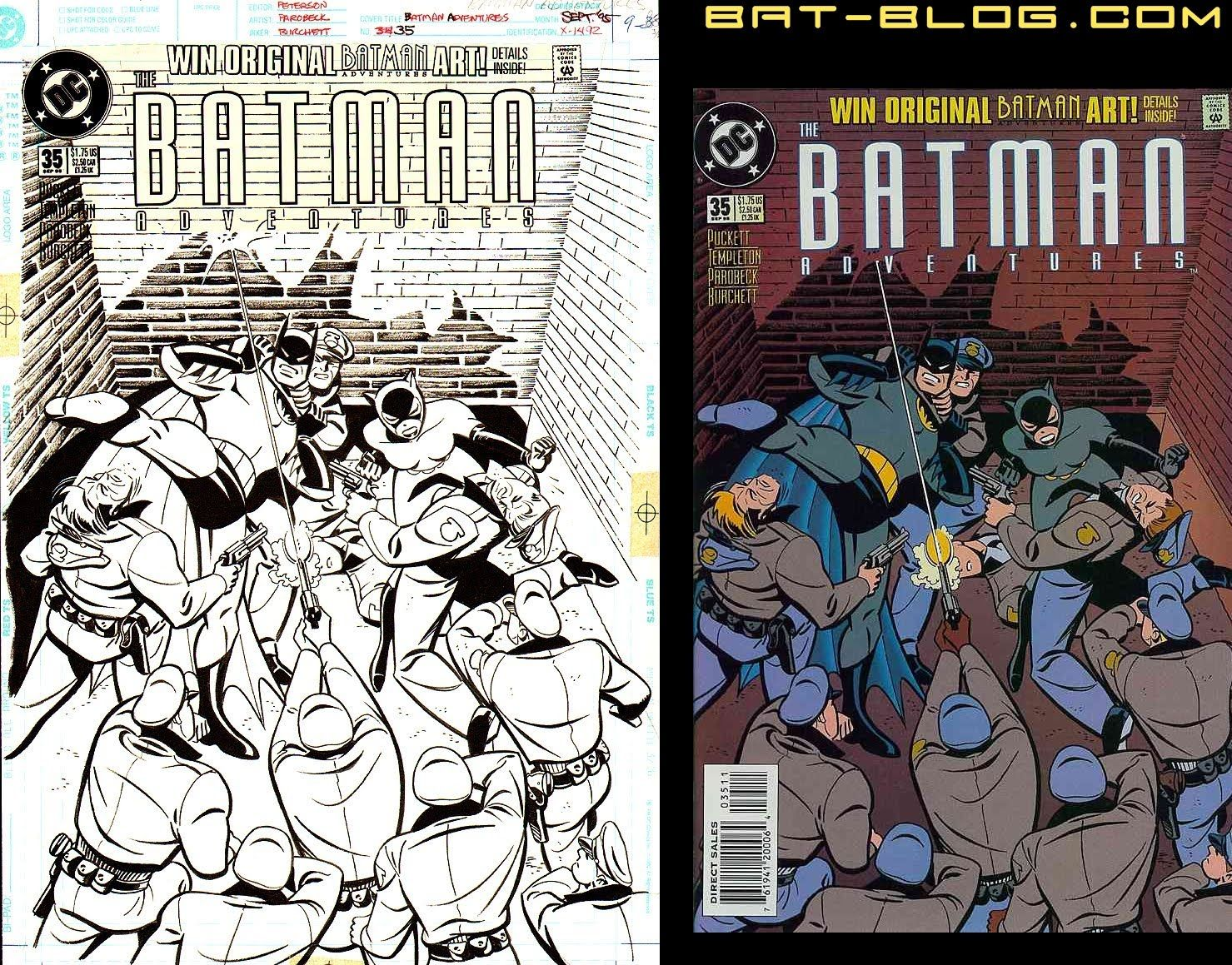 MIKE PAROBECK BAT - BLOG : BATMAN TOYS and COLLECTIBLES: THE BATMAN ADVENTURES - Original Comic Book Cover Artwork