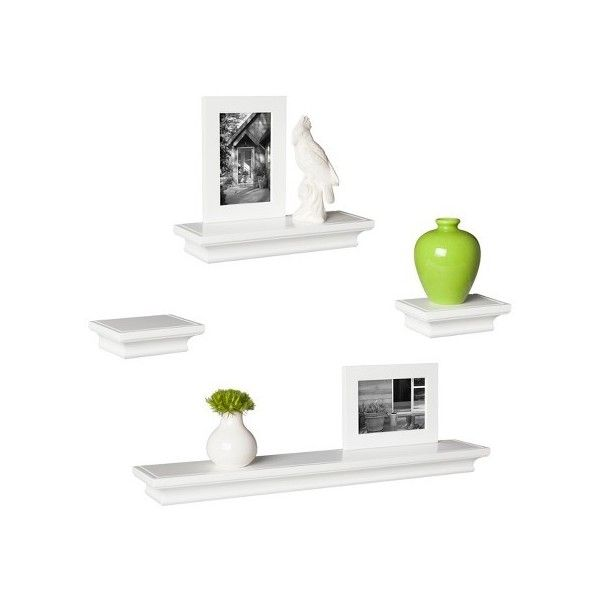 Wall Ledge Set Of Shelves, Frames ($30) ❤ Liked On Polyvore Featuring Home