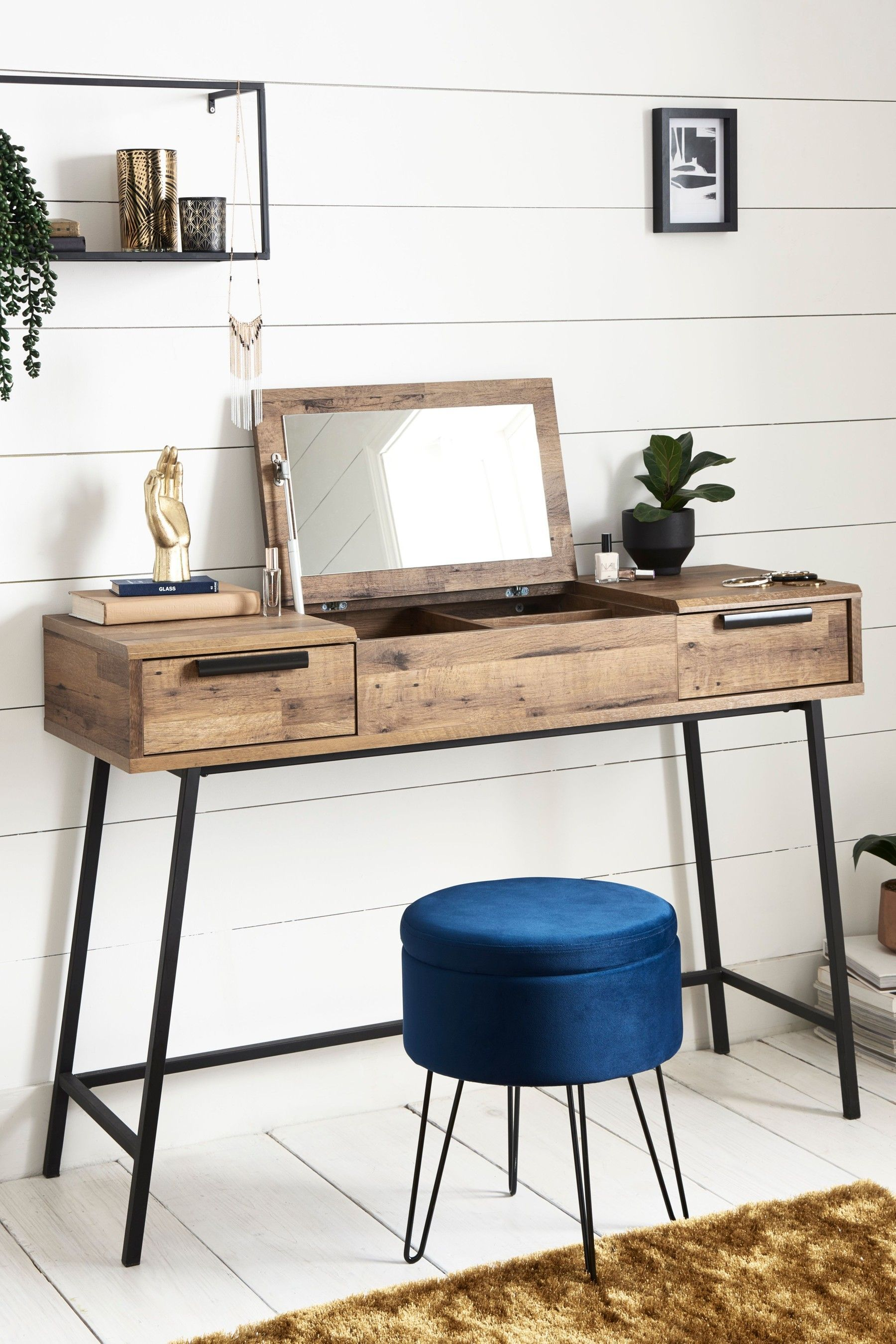Next Bronx Metal Dressing Table - Brown Source by ...