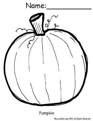 Free pumpkin coloring sheet Education October