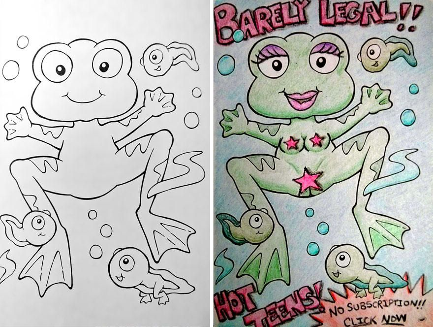funny-children-coloring-book-corruptions-24 | LOL | Pinterest ...
