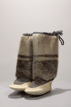 AV.2001.6.1-2  Echalook Jeannie Inukjuak  circa 1994 fur, seal ; skin, seal; sinew 35 x 20 x 10 cm  © Avataq Cultural Institute