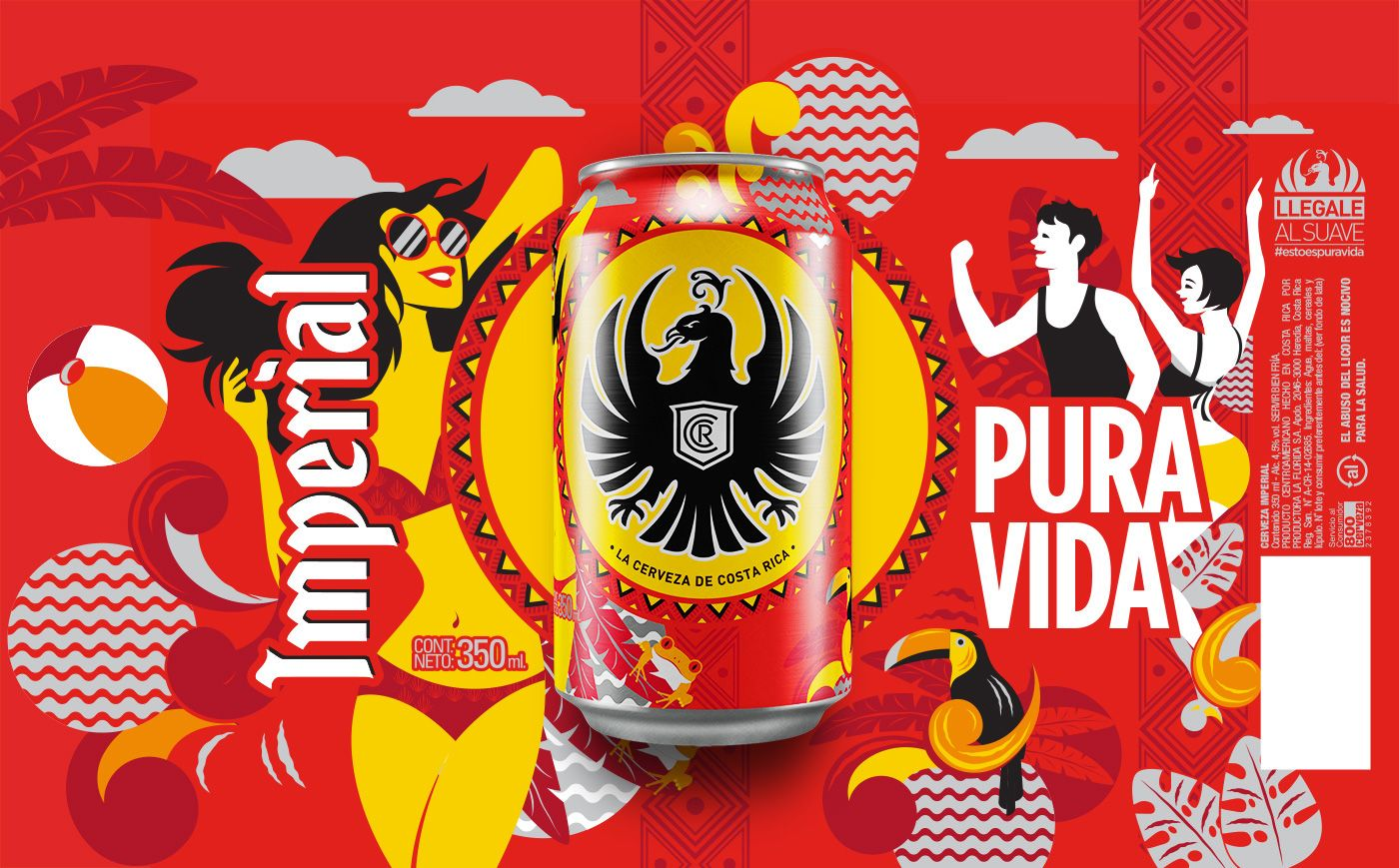 Imperial Summer Edition 2018 On Behance In 2020 Beer Illustration Creative Packaging Design Packaging Design Inspiration