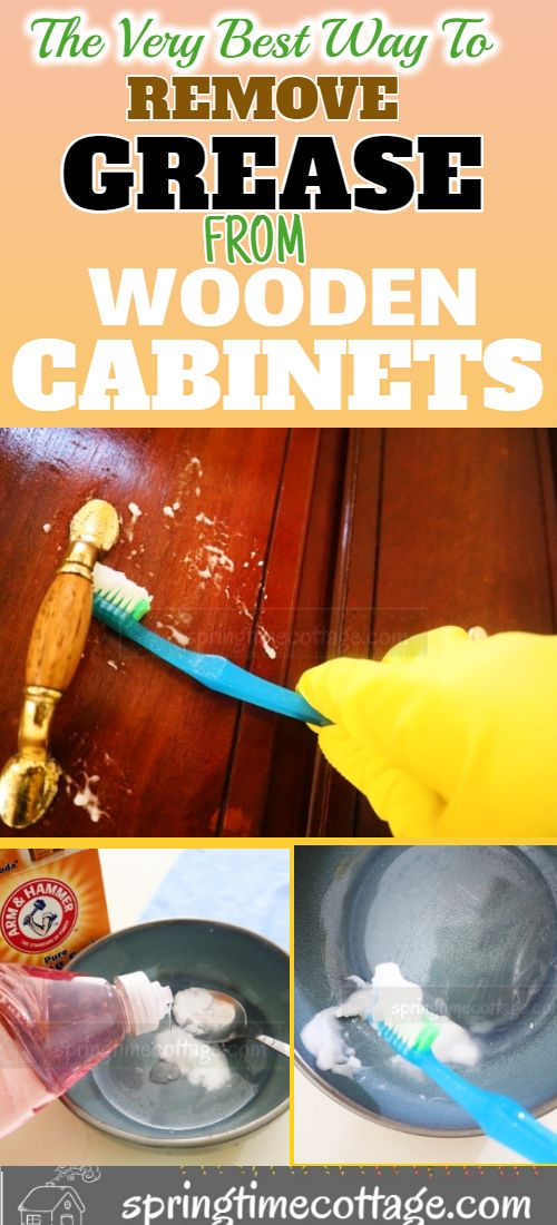 How to remove grease from your kitchen cabinets without ...
