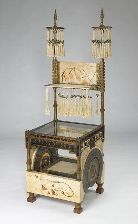 omgthatartifact:    Chair  Carlo Bugatti, 1885-1890  The Minneapolis Institute of Art