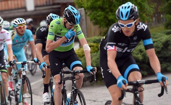 Christopher Froome (Team Sky) finished 20th + 5:05 dropping him out of the top 10