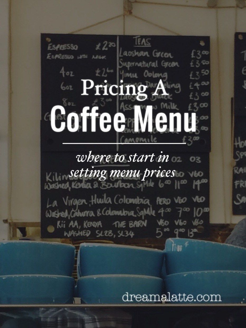 Pricing A Coffee Menu Coffee Shop Menu Coffee Shop Business Mobile Coffee Shop